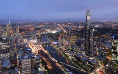 Melbourne from Rialto Tower (Sarmu) Tags: city light sunset wallpaper urban building skyline architecture night skyscraper observation lights twilight highresolution downtown cityscape view skyscrapers nightshot widescreen australia melbourne victoria 1600 highdefinition resolution 1200 vic cbd hd bluehour wallpapers 2008 eureka 1920 eurekatower vantage observationdeck vantagepoint ws 1080 1050 720p 1080p urbanity rialtotower 1680 720 2560 sarmu rialtoobservation