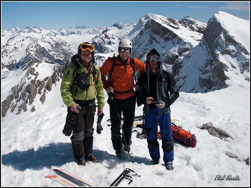cima de la llana del bozo; Ian, Rafa e Ivan