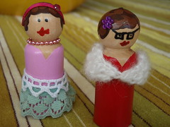 birthday craft- wooden dolls