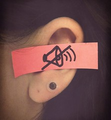 I'm not listening anyway. (Shot.By.Shel Photography) Tags: pink pierced woman me girl self hair lyrics sticker neon song sticky postit gimp listening ear shel bodypart vignette plugs notlistening theused 6g gauged hppt prettypinktuesday tuckedbehindmyear tuneitout