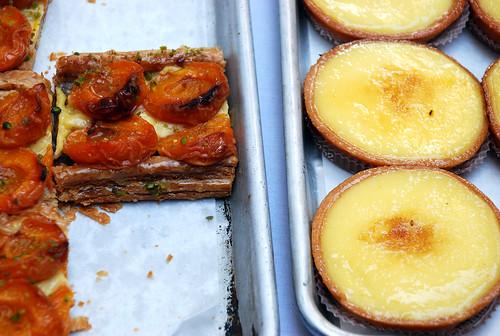 apricot thing and lemon tart from Payard @ Bastille Day Fest...