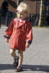 Sophie (Bart van Dijk (...)) Tags: red portrait girl sunglasses kid child sophie daughter kind raincoat portret rood meisje dochter zonnebril regenjas