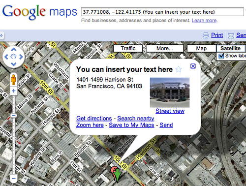 Google Maps Bubble Info