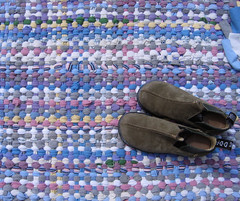 Handwoven Recycled T-Shirt Rug (fiveforty) Tags: handwoven ragrug recycledtshirts fiveforty