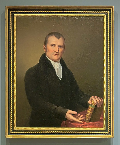 "Oil painting, ""Portrait of a Boston Clergyman"", by James Peale, American, 1811, at the Saint Louis Art Museum, in Saint Louis, Missouri, USA"