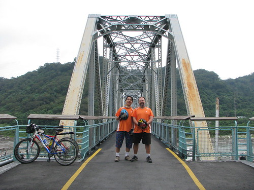 Zeb and Dad on Houfeng Bike Path