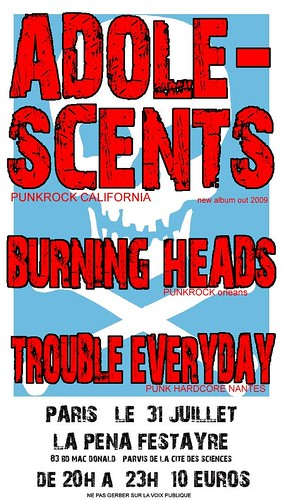 Burning Heads + Adolescents + Trouble Every Day
