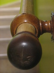 The staircase banister