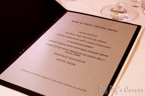 Michael Moore tasting menu