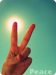 Peace (* Jojo *) Tags: sky sun sol peace hand fingers paz dedos 365project