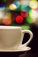 coffee break-eh (alvin lamucho ) Tags: blue red orange green cup coffee yellow night colorful break nightlights bokeh coffeebreak saucer alvinlamucho