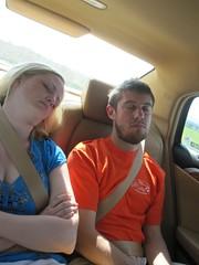 Pooped (CourtneyMay) Tags: sleeping car july melissa josh tubing 2009 july2009 july32009