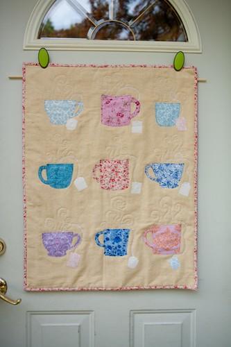 Julie's Tea Party Quilt (before signatures)