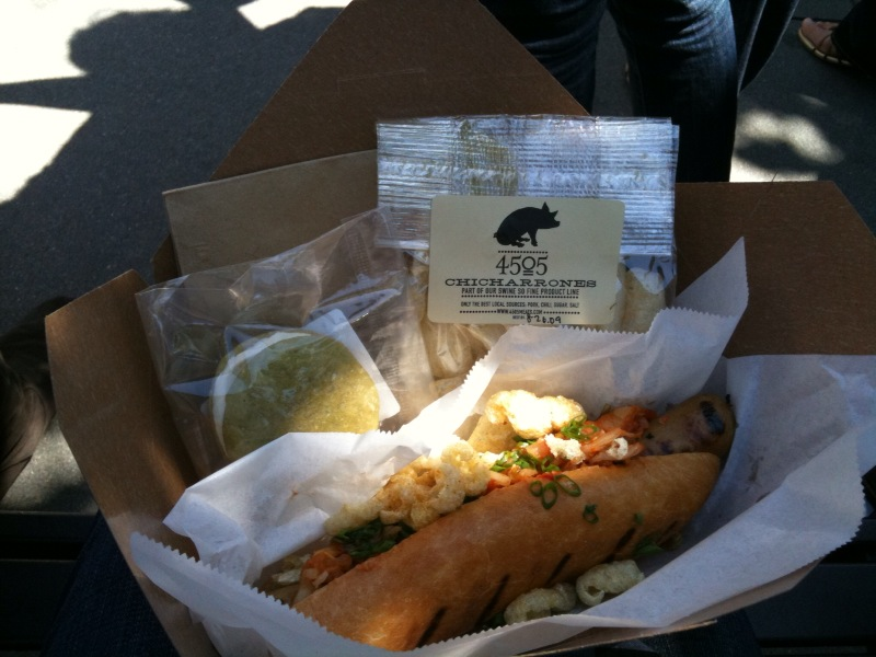 Zilla Dog and Chicharrones at the Ferry Market