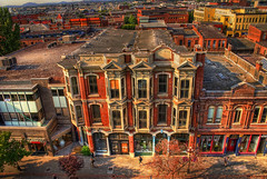 Old Town Victoria (HDR) (Brandon Godfrey) Tags: world pictures above street city windows urban canada beautiful wonderful landscape photography photo amazing fantastic scenery downtown cityscape shadows bc shot photos shots pics earth britishcolumbia sony bricks scenic picture pic scene images victoria vancouverisland creativecommons storefront pedestrians pacificnorthwest northamerica unreal parkade alpha dslr incredible oldtown 2009 hdr highdynamicrange shoppers yates victoriabc baywindows outstanding a300 oldetown yatesst tonemapped theorientalhotel 18thcenturyarchitecture singlerawfilehdr dslra300 topazadjust vicfan