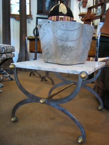 A Pair of Marble Side Tables