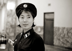 Subway girl - Pyongyang North Korea (Eric Lafforgue) Tags: pictures portrait people cute girl face subway photo war asia metro picture police korea explore human asie coree controle gens northkorea visage pyongyang dprk coreadelnorte nordkorea 2369 lafforgue    coreadelnord  coreedunord  insidenorthkorea  rpdc  kimjongun coreiadonorte  humainpersonne