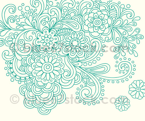Henna Tattoo Doodle Vector Illustration by blue67