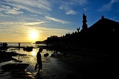 Tanah Lot sunset (MJLee1) Tags: ocean boy sunset sea bali cloud beach silhouette temple sand places tanahlot 1424mmf28g