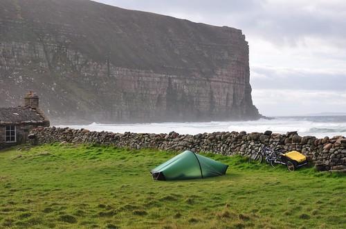 Camp at Rackwick bay