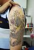 koi tattoo stage 2 Tattooed by Johnny