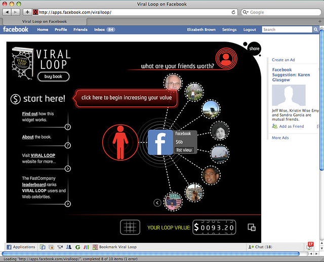 Viral Loop Facebook App