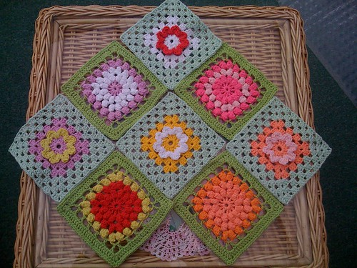 Squares come in already for our 'Flower' Challenge! From Karinaandehaak! Thanks so much!