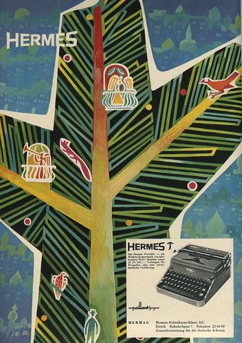 Du 1950-12 Weihnachten mit Hermes