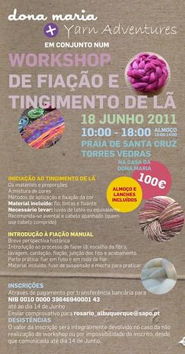 Workshop de Fiação e Tingimento de Lã