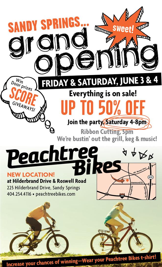 Peachtree Bikes Sandy Springs Grand Opening!