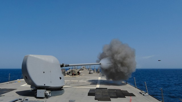 Live Gunnery Exercise Onboard USS Higgins