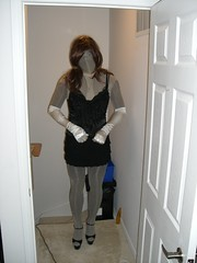 CIMG6048 (Audrey921) Tags: highheels mask gloves pantyhose encasement