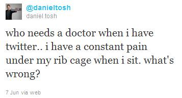 daniel tosh rib pain