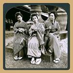 A TRIO OF GEISHA in Old NARA, JAPAN thumbnail