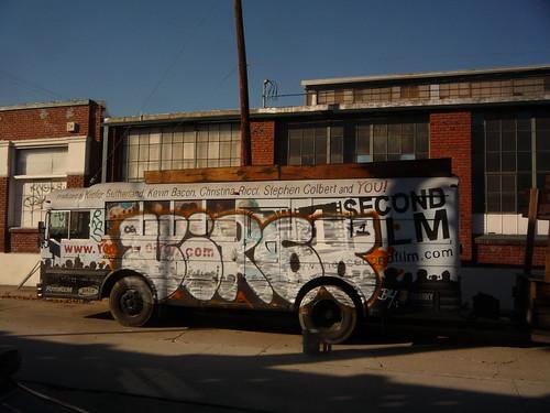 graffiti on bus