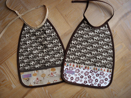 Elephant bibs by Naztrida.