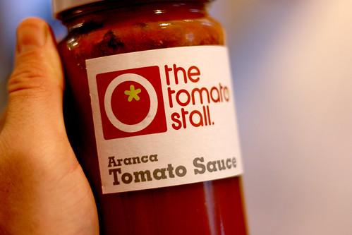 Tomato sauce hand