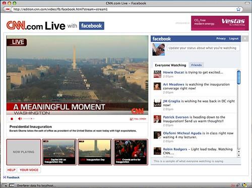 Screenshot af CNN's liveafspiller