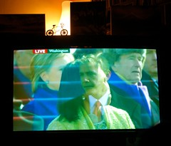 Mr & Mrs Obama on TV