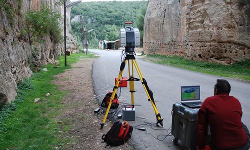 Le Laser-scanner, Château de Saladin/Saône/Sahyun (Syrie, 2008)