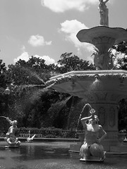 Fountain Of Life (Barry Minor (bmine5)) Tags: park trees people bw favorite sun sunlight water fountain beautiful beauty rock ga island flickr head awesome great hilton spray fave explore finest classique naturesfinest bmine bmine5