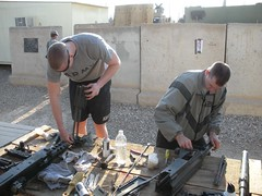 Weapons cleaning (The U.S. Army) Tags: iraq cleaning weapons