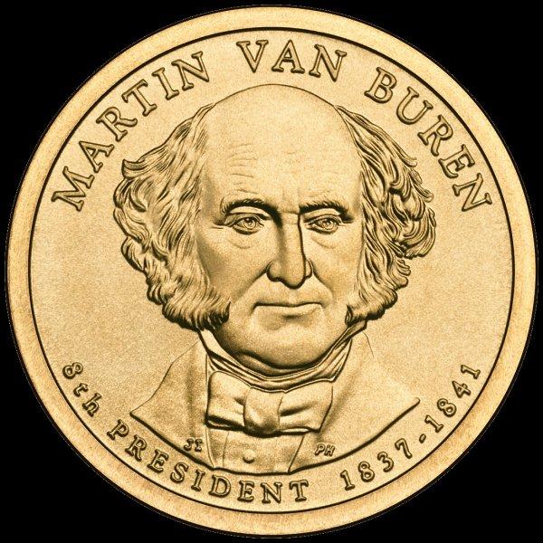 Martin Van Buren Presidential $1 Coin — Eighth President, 1837-1841