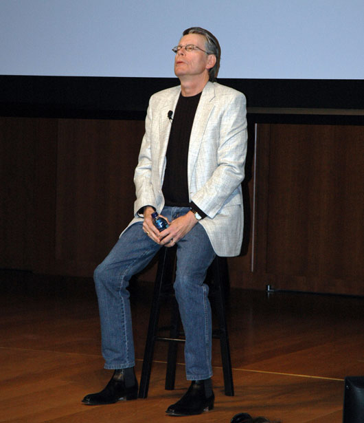 Stephen King At Amazon's Kindle 2 Press Conference