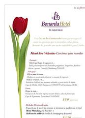 Bonarda Hotel, Día de los Enamorados