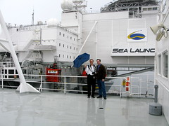 Sea Launch (jurvetson) Tags: rain harbor russia platform ukraine longbeach rocket zenit boeing launch jointventure undermyumbrella sealaunch 3sl