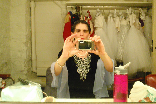 Self portrait in Dressing Room Mirror