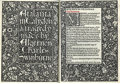 Algernon Charles Swinburne. Atalanta in Calydon- A Tragedy. Hammersmith, England, Kelmscott Press, 1894