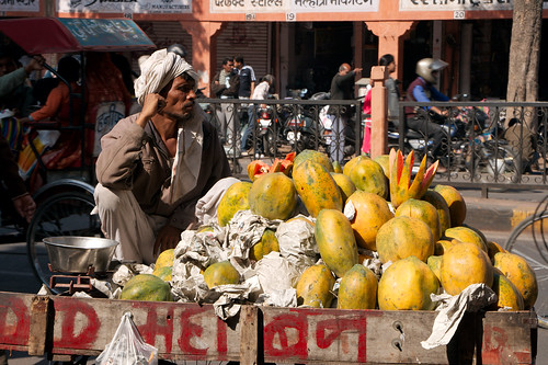 A street stall selling fruit