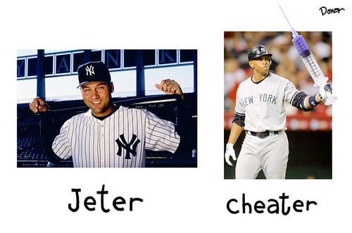 derek jeter alex rodriguez steroids cartoon